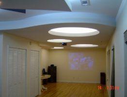 basement ceiling contracting work